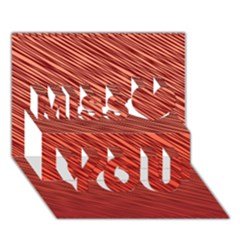 Line design Miss You 3D Greeting Card (7x5)