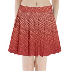 Line design Pleated Mini Skirt