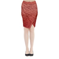 Line design Midi Wrap Pencil Skirt
