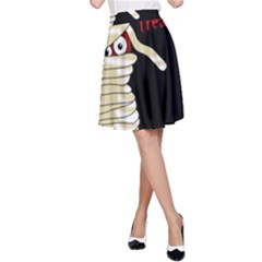 Halloween mummy   A-Line Skirt