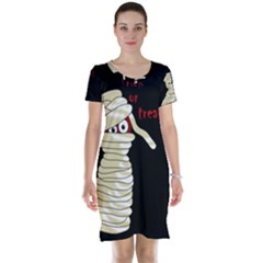 Halloween mummy   Short Sleeve Nightdress