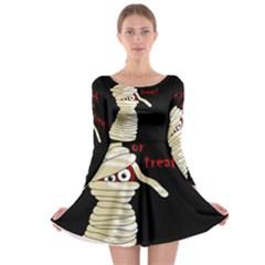 Halloween mummy   Long Sleeve Skater Dress