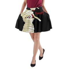 Halloween mummy   A-Line Pocket Skirt