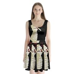 Halloween mummy   Split Back Mini Dress