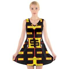 Win 20161004 23 30 49 Proyiyuikdgdgscnh V-Neck Sleeveless Skater Dress