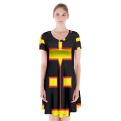 Win 20161004 23 30 49 Proyiyuikdgdg Short Sleeve V Neck Flare Dress