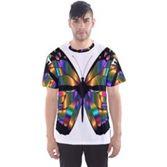 Abstract Animal Art Butterfly Men s Sport Mesh Tee