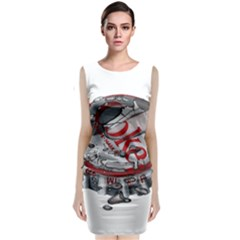 Acrylic Bottle Caps Photorealism Classic Sleeveless Midi Dress