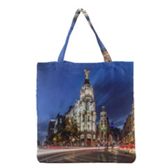 Architecture Building Exterior Buildings City Grocery Tote Bag