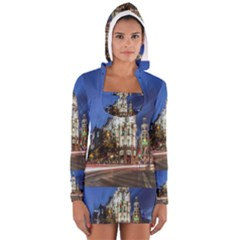 Architecture Building Exterior Buildings City Women s Long Sleeve Hooded T-shirt