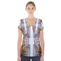 Architecture Facade Buildings Windows Short Sleeve Front Detail Top