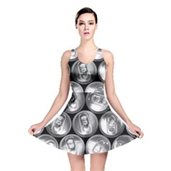 Black And White Doses Cans Fuzzy Drinks Reversible Skater Dress
