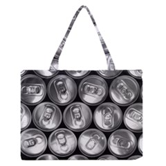 Black And White Doses Cans Fuzzy Drinks Medium Zipper Tote Bag