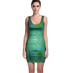Board Conductors Circuits Sleeveless Bodycon Dress