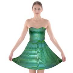 Board Conductors Circuits Strapless Bra Top Dress