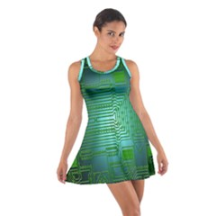 Board Conductors Circuits Cotton Racerback Dress