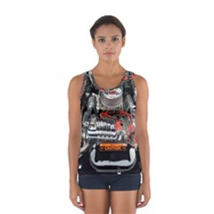 Car Engine Women s Sport Tank Top