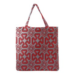 Christmas Wrap Pattern Grocery Tote Bag