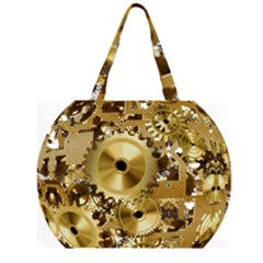 Clock Ball About Movement Time Large Tote Bag