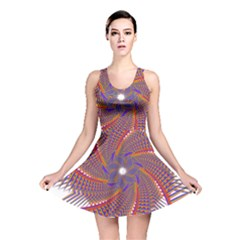 Colorful Prismatic Chromatic  Reversible Skater Dress