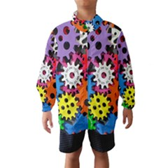 Colorful Toothed Wheels Wind Breaker (Kids)