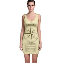 Compass Vintage South West East Sleeveless Bodycon Dress