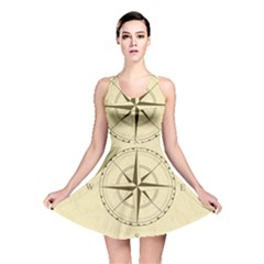 Compass Vintage South West East Reversible Skater Dress