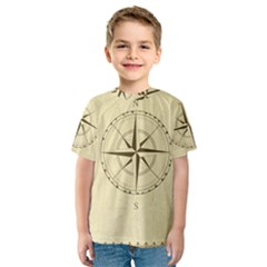 Compass Vintage South West East Kids  Sport Mesh Tee