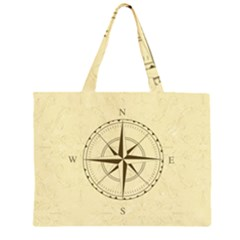 Compass Vintage South West East Large Tote Bag
