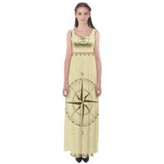 Compass Vintage South West East Empire Waist Maxi Dress