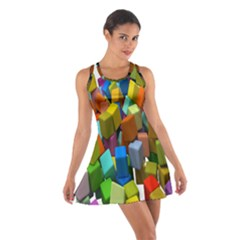 Cubes Assorted Random Toys Cotton Racerback Dress