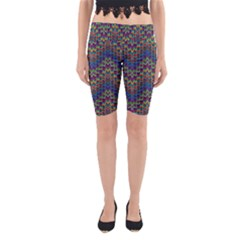 Decorative Ornamental Abstract Yoga Cropped Leggings