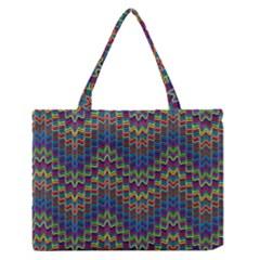 Decorative Ornamental Abstract Medium Zipper Tote Bag