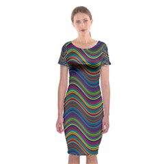 Decorative Ornamental Abstract Classic Short Sleeve Midi Dress