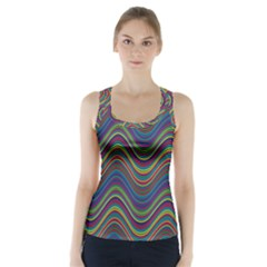 Decorative Ornamental Abstract Racer Back Sports Top