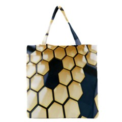 Honeycomb Yellow Rendering Ultra Grocery Tote Bag