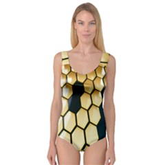 Honeycomb Yellow Rendering Ultra Princess Tank Leotard
