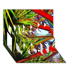 Kostenloses Leaves Miss You 3D Greeting Card (7x5)