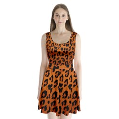 Leopard Patterns Split Back Mini Dress
