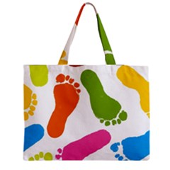 Lip Handprint Medium Tote Bag