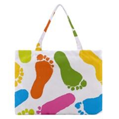 Lip Handprint Medium Zipper Tote Bag