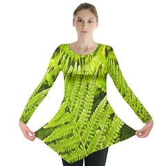 Fern Nature Green Plant Long Sleeve Tunic