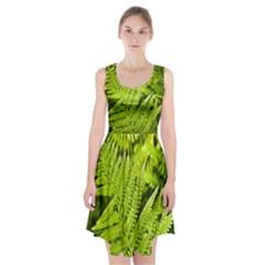 Fern Nature Green Plant Racerback Midi Dress