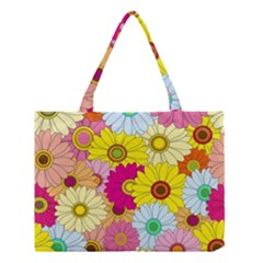 Floral Background  Medium Tote Bag