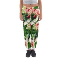 Floral Collage Women s Jogger Sweatpants