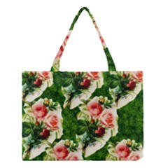 Floral Collage Medium Tote Bag