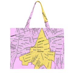 Floral Park Ny Map Large Tote Bag