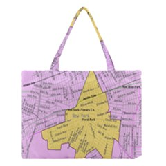 Floral Park Ny Map Medium Tote Bag