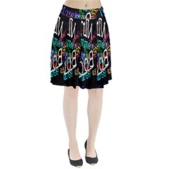 Miami Text Pleated Skirt