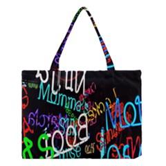 Miami Text Medium Tote Bag